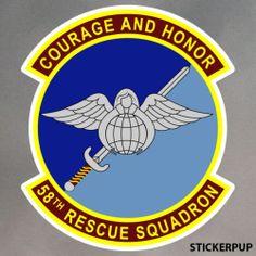 Pararescue Stickers 58th Rescue Squadron StickerPup.Com Custom Stickers