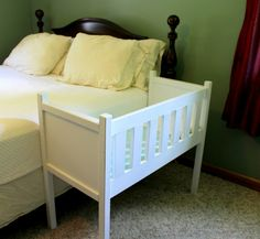 This co-sleeper is an easy DIY you can make in a weekend.
