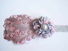 baby bows with feathers pics | Feather Headband, Baby Headbands, Baby Girl Headbands, Infant Bows ...