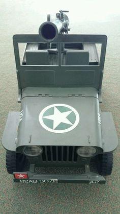 VINTAGE Action Man jeep with gun | eBay///mar16