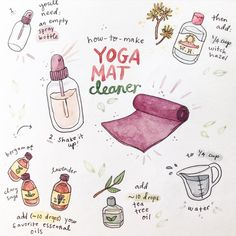 DIY: yoga mat cleaner