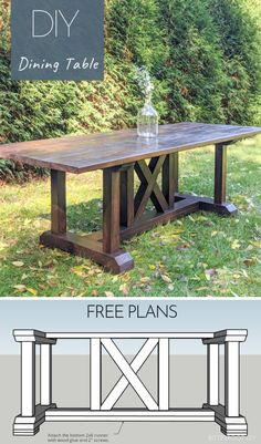 DIY Dining Table build this dining room table inspired by Restoration Hardware Free plans from Bitterroot DIY Diy Furniture Plans, Rustic Furniture, Table Furniture, Mexican Furniture, Furniture Makeover, Farmhouse Furniture, Building Furniture, Building Cabinets, Diy Living Room Furniture