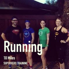 Superhero running FitSnap shot, awesome! FitSnap is a free iPhone app that creates inspirational pictures from your workouts. Download it today from the App Store!