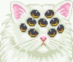 gif cat eyes kawaii kitten not mine smiling pixel art kawaii pixel pastel goth creepy cute Manga Kawaii, Kawaii Art, Cute Pixels, Pixel Art Gif, Piskel Art, Arte 8 Bits, Posca Art, 8bit Art, Creepy Cute