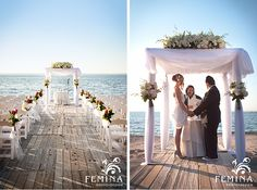 This #beachwedding at The Crescent Beach Club in Bayville, Long Island, NY is…