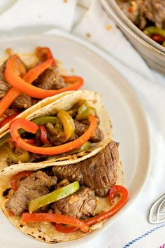 I had a small piece of sirloin steak (about 8 ounces) that I cut against the grain into thin strips. I also had fresh green and red peppers from our garden and decided they would be perfect to marinate along with the steak. The steak and peppers were pan-fried until the steak was no longer pink and the peppers were soft. It was delicious!  The wonderful thing about marinades, especially the marinade for this carne asada marinade, is that you can take a cheaper cut of meat and make it taste…
