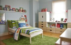 I like this room--but there is NO way a child lives in this room (it's way too clean)  Check out designerdad's Children's on IKEA Share Space.