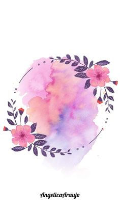 Free Wallpaper Backgrounds, Flower Background Wallpaper, Neon Wallpaper, Watercolor Wallpaper, Flower Backgrounds, Watercolor Background, Background Patterns, Cute Wallpapers, Watercolor Flowers