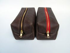 Leather Dopp Kit / Leather Pouch / Travel by NomadTravelGear