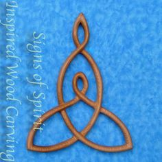 Mother and Child Knot -Wood Carved Celtic Knot Mothers Love-Nurturing