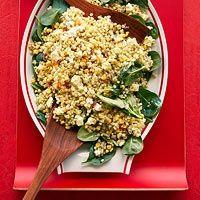 Corn Feta and Couscous Salad with Basil Vinaigrette