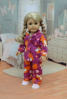 Pajamas for American Girl doll - Forest Fox