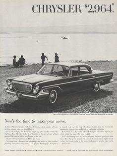 1962 Chrysler Newport Car Ad Retro 4-Door Sedan by AdVintageCom