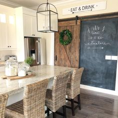 """1,069 Likes, 13 Comments - Janna Allbritton (@yellowprairieinteriors) on Instagram: """"I've never met a chalkboard I didn't like. Yes, I've actually greeted a chalkboard. """"Oh hi there,…"""""""