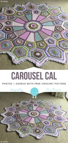 Crochet Afghan Great CALs to Try in 2019 Free Crochet Patterns Crochet Afghans, Crochet Rug Patterns, Crochet Diy, Manta Crochet, Crochet Mandala, Crochet Squares, Crochet Crafts, Crochet Projects, Knitting Patterns