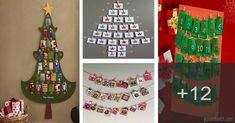 Cómo hacer un divertido calendario de adviento para navidad 9 And 10, Advent Calendar, Holiday Decor, Home Decor, Videos, Tela, Craft Projects, Make A Snowman, How To Make