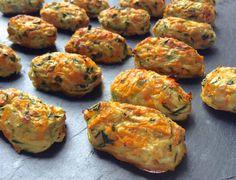 Bocaditos vegetales (calabacin, zanahoria, cebolleta, huevos y yogur)