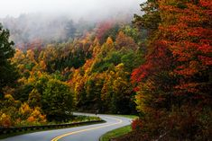 On The Road Again, Blue Ridge, Paths, Country Roads, Luxury, Nature, Colorful, Outdoor, Wallpapers