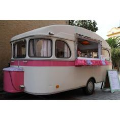 It's so pretty and retro, it may not even be a food truck. Maybe a mobile vending station.