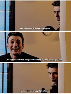 Oh Chris Evans. You're so cute when you mess up your lines.