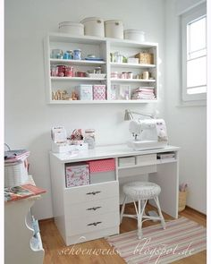 20 Most Popular Study Table Designs and Childrens Chairs Today Sewing Room Furniture, Sewing Desk, Sewing Room Storage, Sewing Room Decor, Sewing Spaces, Sewing Room Organization, Sewing Table, Sewing Rooms, Tiny Sewing Room