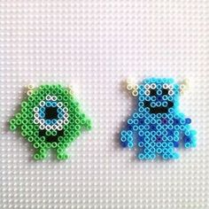 Mike and Sulley - Monsters, Inc. hama beads by hadavedre