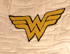 Applique Adventures with Brad: Wonder Woman, a free pattern on fandominstitches.com.