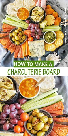 Easy DIY ideas for making your own holiday Charcuterie Board. This cheese and meat platter will tick ALL of your boxes. Simple ideas and shopping list included! #charcuterieboardideas #holidayfoodideas @sweetcaramelsunday