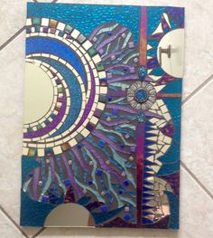 Glass Mosaic Mirror Steampunk