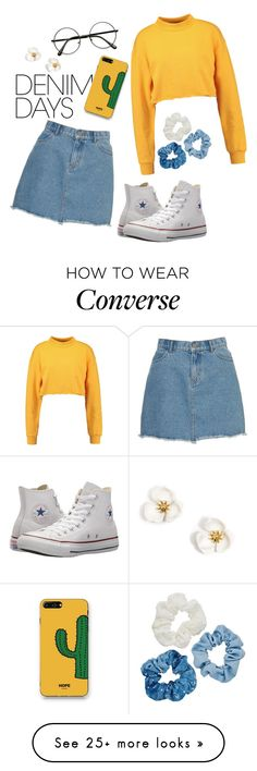 """Denim is my favourite"" by cmg2003 on Polyvore featuring Converse, Mudd, WithChic and denimskirts"