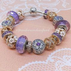 9a5b5aab5 ... netherlands pandora forget me not charm and spacers have been added to  the flower bed.