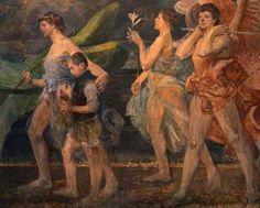 """Jacek Malczewski """"Tobiasz z aniołami"""" (ok. 1908), Muzeum Śląskie w Katowicach"""