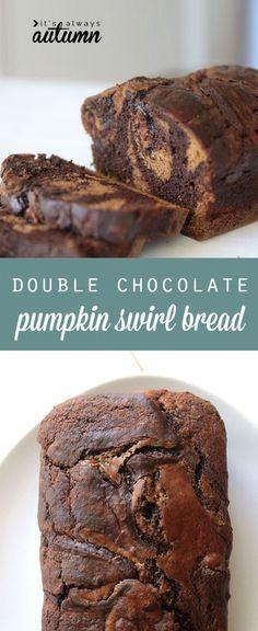 Double Chocolate pumpkin swirl bread