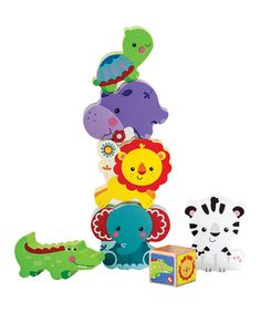 Another great find on #zulily! Animal Tower Game by Fisher-Price #zulilyfinds