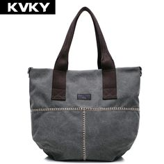 KVKY Vintage Women Canvas Handbag Fashion Ladies Retro Bucket Bag Casual Women Shoulder Messenger Bag Female Shopping Bag bolsas