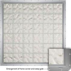 CrystaLok 33-1/4-in x 33-1/4-in Wavy Pattern Series Vinyl New Construction Glass Block Window - LOWES - $421