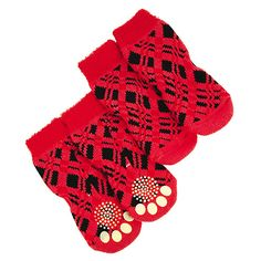 Gifts for Your Pets – and For You, Of Course | FOR THE DOG WHO'S BAD TO THE BONE | It's so lame when your mom stuffs your stocking with socks. Nobody panic – the same rule does not apply to your puppies. These red Bret Michaels Pets Rock collection socks will, well, rock your socks off and keep their little paws cozy. Mostly the former though.Buy It! petsmart.com, $8.99