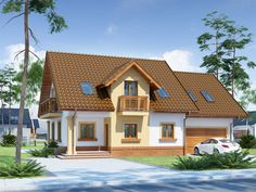 Doskonale wpisuje się zarówno w teren zabudowany jak i w otwartą przestrzeń. Home Fashion, Mansions, Architecture, House Styles, Modern, Case, Home Decor, Shopping, Plantation Houses