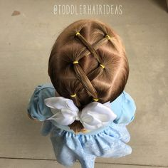 Today we did some criss-crosses down the middle and pulled the hair into a low pony!  #toddlerhair #toddlerhairideas #toddlerhairstyles #cutetoddlerhair #cutegirlhair #toddlerhairstyleideas #hairideas #toddlerstyle #easyhairstyle #easyhairstyles #girlhair #littlegirlhair #littlegirlhairstyle #toddler #buns #braids #ponytail #pigtails #hairstylesforgirls #hairstyleforgirls #hair #elastics #ropetwists #kidhair #kidhairstyles #toddlersofIG #toddlersofinstagram #cutehair