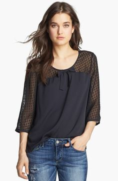 Hinge®  Jacquard Dot Top available at #Nordstrom