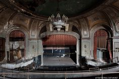 After the Final Curtain: Embassy Theatre Port Chester, NY Abandoned Buildings, Old Buildings, Abandoned Places, Abandoned Castles, Places In Boston, Port Chester, Paramount Theater, Haunting Photos, Most Haunted Places
