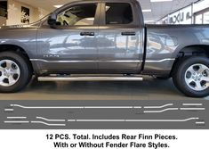 2019-Up Dodge Ram Chrome Body Side Accent Trim. Quick and easy installation.  #ram #dodge #pickuptrucks #pickup #trucks #trucking #trucklife