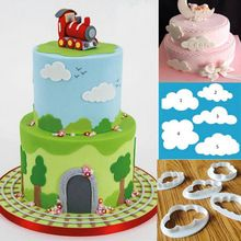 5 Unids/lote Nube Plástico Cortador Fondant Cake Cookie Cutter Molde Fondant…