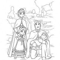 Desenho De Familia Da Elsa E Anna Para Colorir Com Imagens