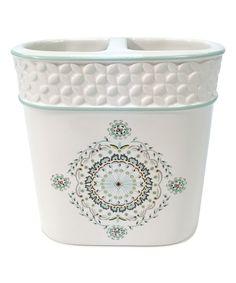 Look at this #zulilyfind! White Camden Ceramic Toothbrush Holder by Bardwil Home #zulilyfinds