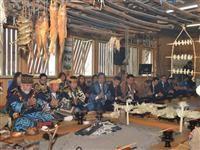 北海道白糠町で行われアイヌ民族の伝統行事「ししゃも祭」=2014年11月2日