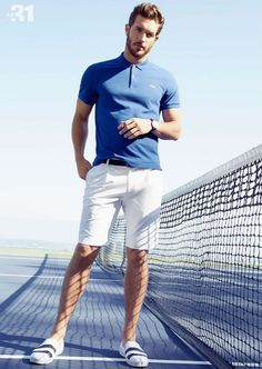 Blue white always cool for summer looks