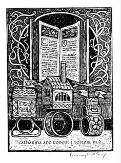 FREE contemporary artist DOWNLOAD~BOOKPLATES: THE ART OF THIS CENTURY! . http://www.bookplate.org/book-store  Ex Libris by Rosemary Feit Covey