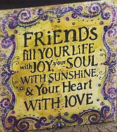 Friends quote via www.Facebook.com/PositivityToolbox