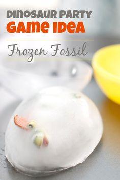 Dinosaur Birthday Party Game Ideas Frozen Dinosaur Fossil